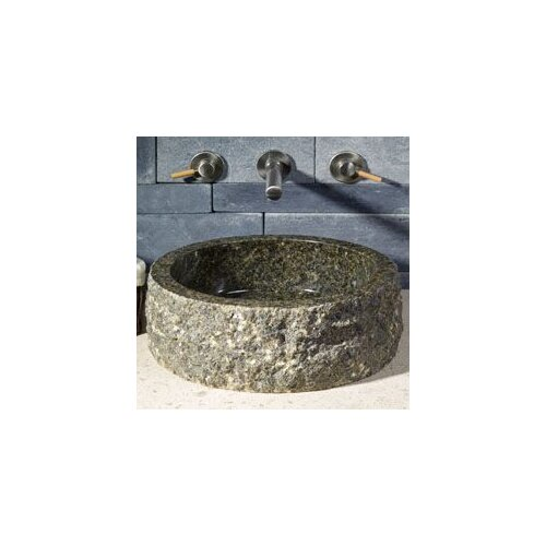 Circular Vessel Bathroom Sink with Broken Edge