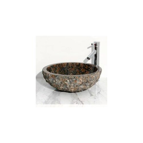 Round Vessel Bathroom Sink with Broken Edge