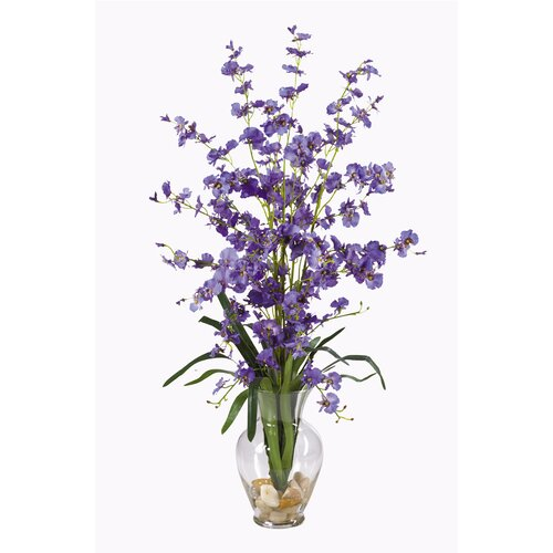 Dancing Lady Liquid Illusion Silk Orchid Arrangement in Purple