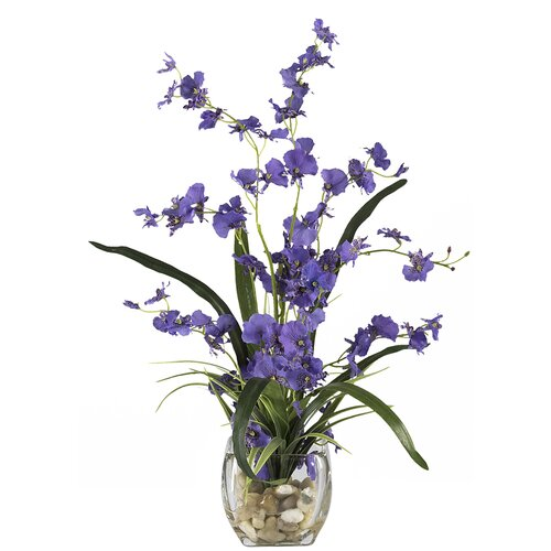 Liquid Illusion Dancing Lady Silk Orchid Arrangement in Purple
