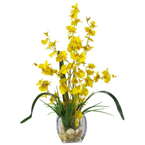 Liquid Illusion Dancing Lady Silk Orchid Arrangement in Yellow