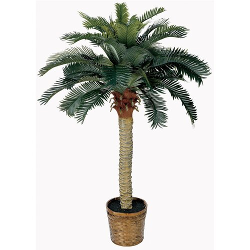 Nearly Natural Sago Palm Tree in Basket