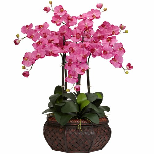 Large Phalaenopsis Silk Flower Arrangement in Dark Pink