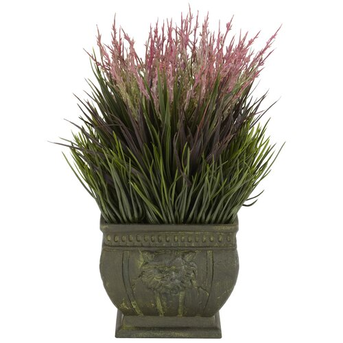 Nearly Natural Mixed Silk Grass in Planter