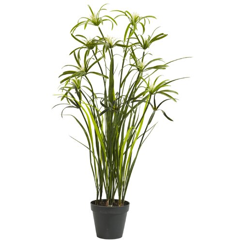 Nearly Natural Papyrus Silk Floor Plant in Pot