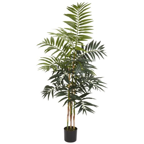 Nearly Natural Bamboo Palm Tree in Pot