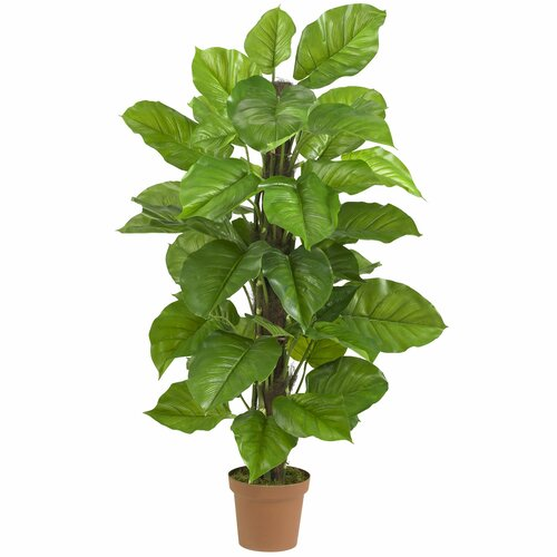 Nearly Natural Leaf Philodendron Tree in Pot