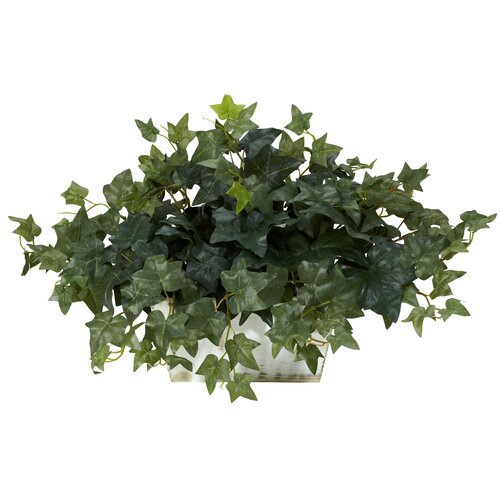 Nearly Natural Ivy Desk Top Plant in Planter