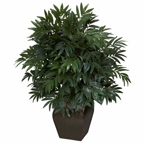 Nearly natural double bamboo palm floor plant in for Faux bambou plante