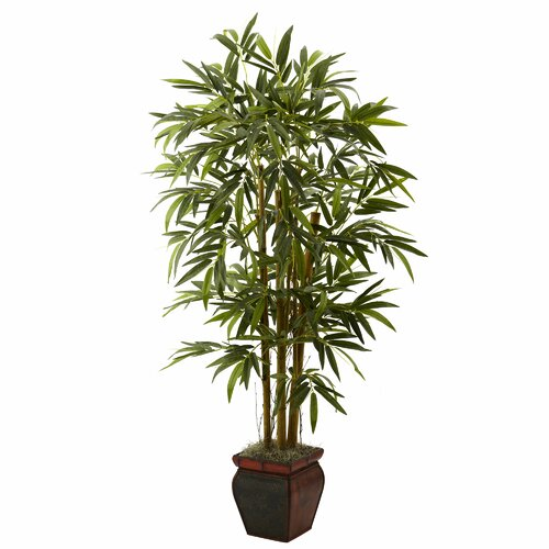 Nearly Natural Bamboo Tree in Planter