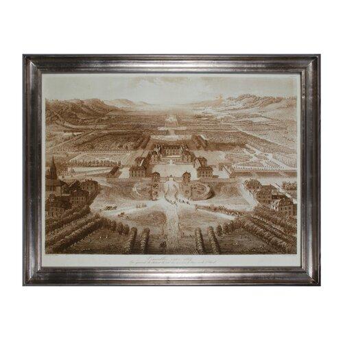 Birds Eye View of Versailles Framed Painting Print Set