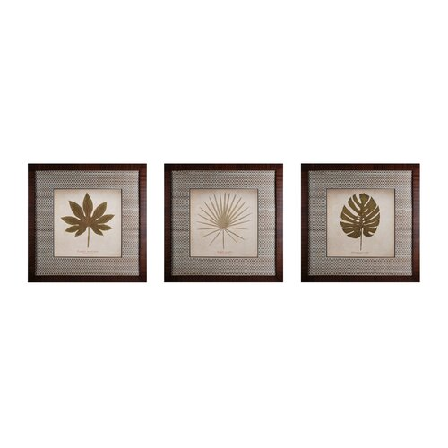 Leaves 3 Piece Framed Graphic Art Set