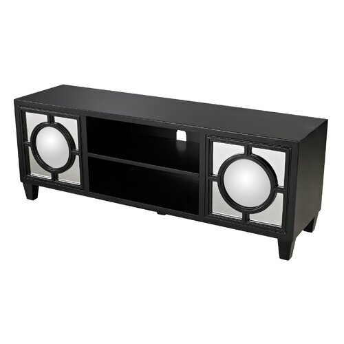 Mirage Media Console with Convex Mirror
