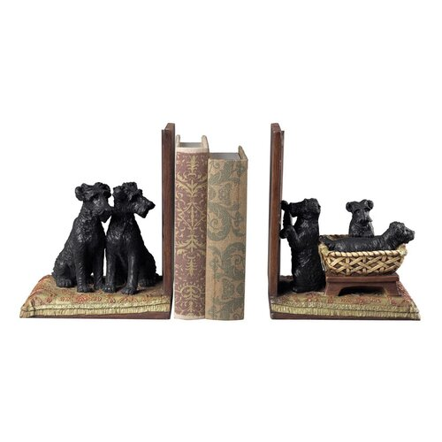 Sterling Industries Puppies in A Basket Book Ends
