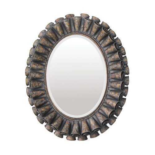 Sterling Industries  Ruffled Oval Mirror