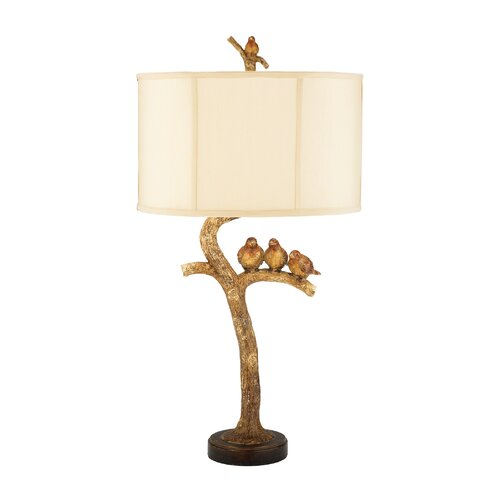 "Sterling Industries Three Birds 34"" H Table Lamp with Drum Shade"