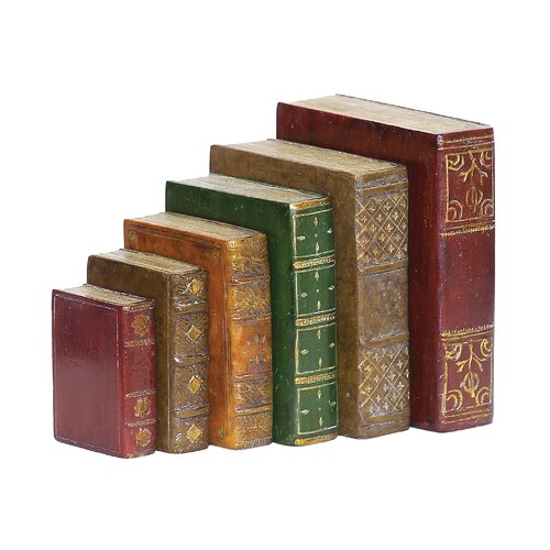 Sterling Industries 5 Piece Tooled Book Figurine