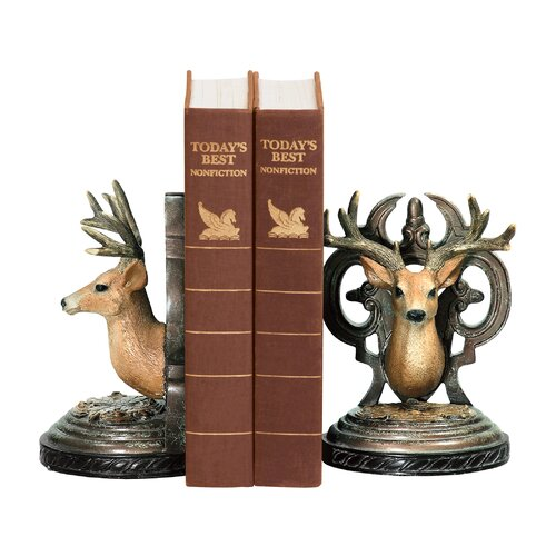 Sterling Industries Deer Head Book Ends