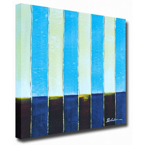 White Walls Baby Stripes Original Painting on Canvas