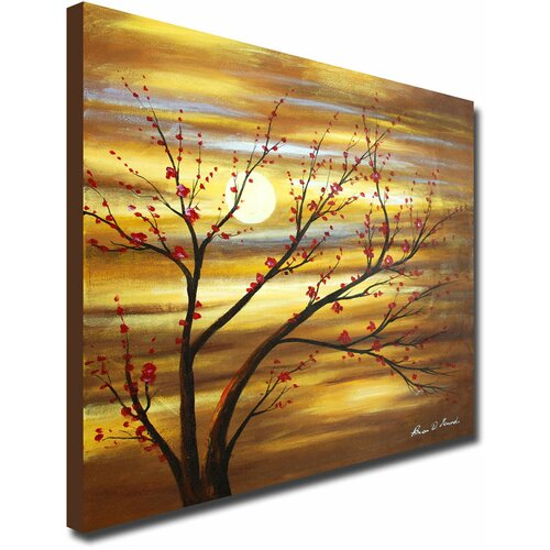 White Walls Hand Painted Red Bud Rhythm Canvas Art