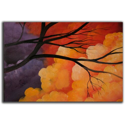 White Walls Vivid Sky 5 Piece Original Painting on Canvas Set