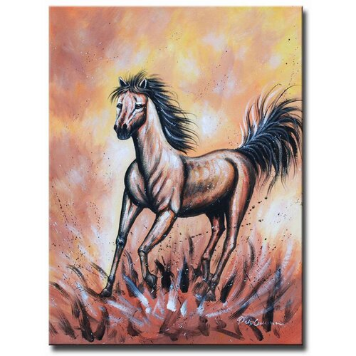White Walls Mud Runner Original Painting on Canvas
