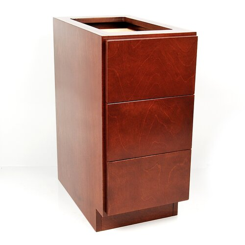 D'Vontz MDV Modular Cabinetry All Wood 3 Drawer Base Cabinet