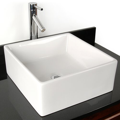 D'Vontz Grenada China Vessel Bathroom Sink
