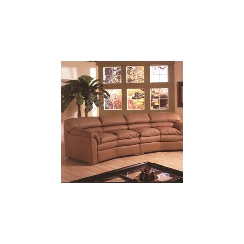 Omnia Furniture Canyon Conversation Leather Sofa