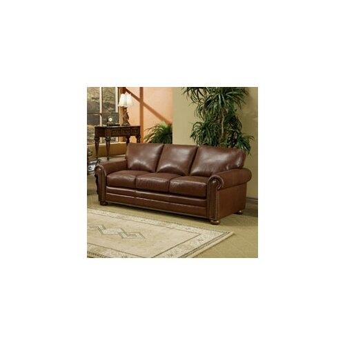 Omnia Furniture Savannah Leather Sleeper Sofa