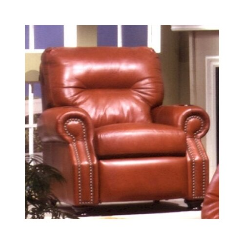 Omnia Furniture Impala Leather Club Recliner