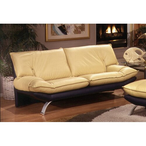 Omnia Furniture Princeton Leather Sofa