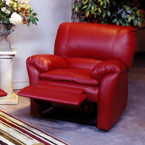 Omnia Furniture Luxor Leather Recliner