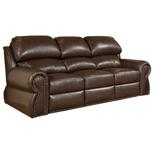 Omnia Furniture Cordova Leather Sleeper Sofa