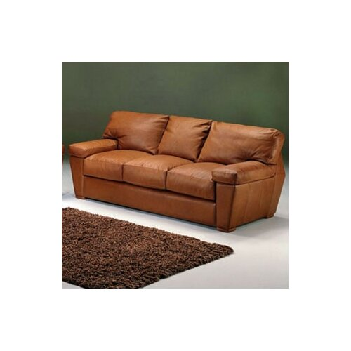 Prescott Leather Sleeper Loveseat