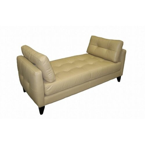 Omnia Furniture City Loft Leather Bench
