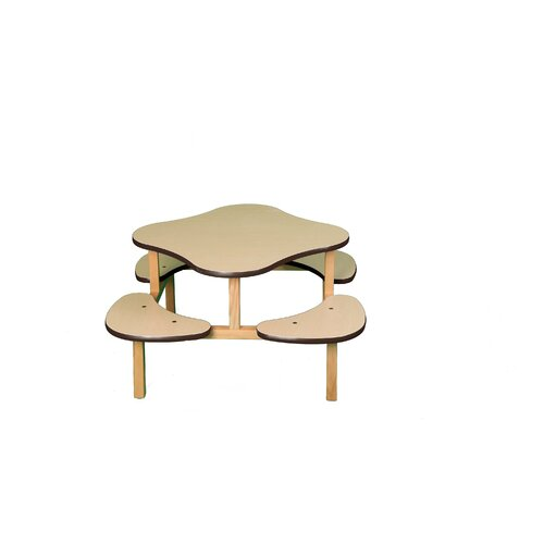 Wild Zoo Play Table in Maple