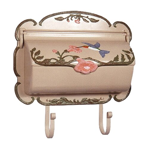 Special Lite Products Hand Painted Hummingbird Horizontal Wall Mounted Mailbox