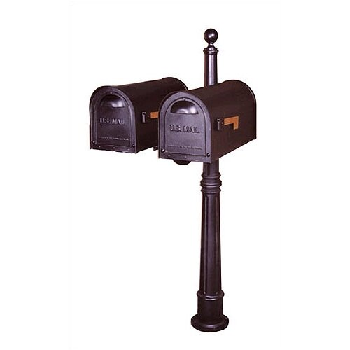 Special Lite Products Ashland Mailbox Post with Dual Arm and Burial Kit