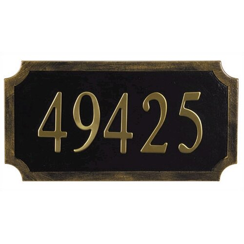 Special Lite Products Traditional Address Plaque