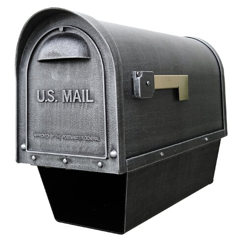 Special Lite Products Classic Curbside Post Mounted Mailbox with Newspaper Tube