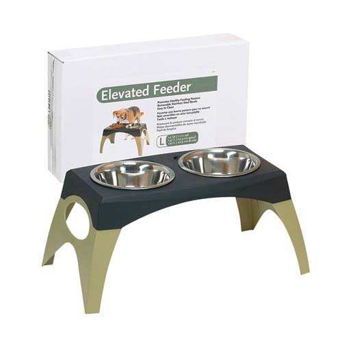 Storm Cloud Elevated Dog Feeder