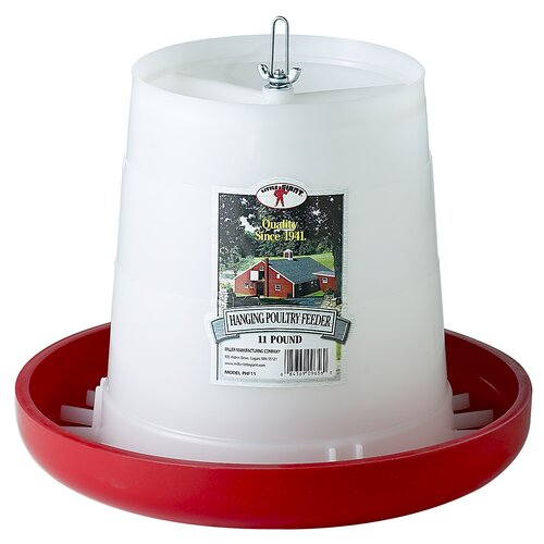 Miller Mfg Little Giant Farm & Ag Plastic Hanging Poultry Feeder