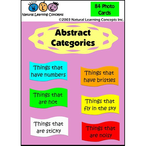 Natural Learning Concepts Abstract Categories