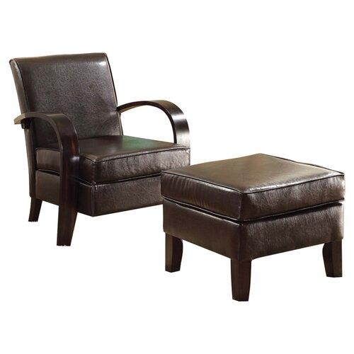 Hokku Designs Bowed Chair and Ottoman