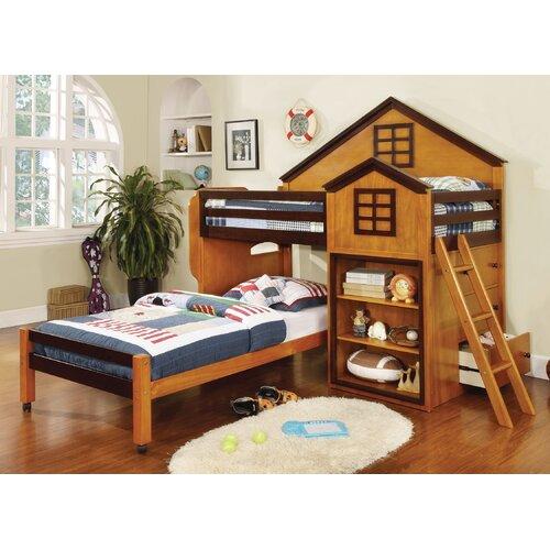 Hokku Designs Stewart House Twin Over Twin Loft Bed