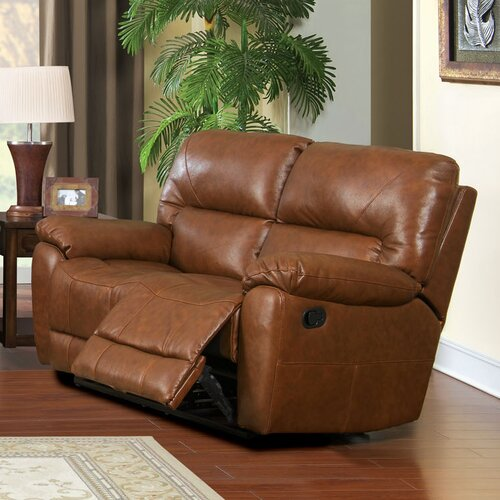 Schwartz Genuine Reclining Loveseat