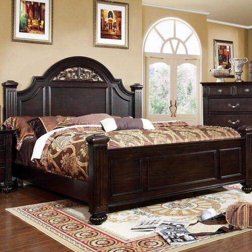 Sienzie Arched Floral Platform Bed