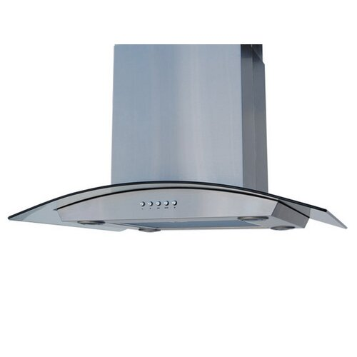 "Enitial Lab 24"" 375 - 600 CFM Curved Glass Island Range Hood"