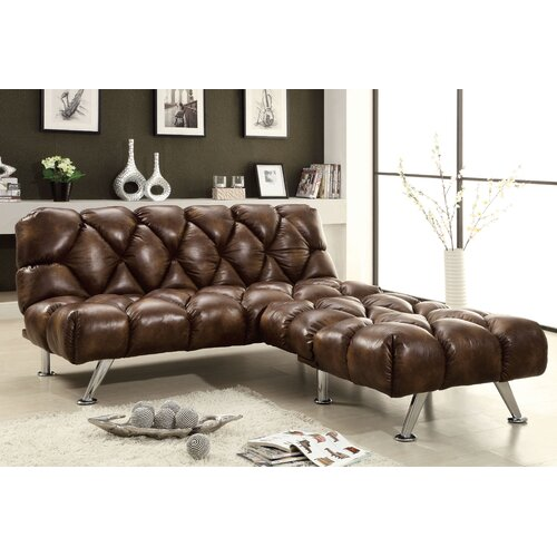 Hokku Designs Jenello Leather Vinyl Sleeper Sofa Set